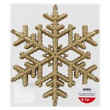 buy the large gold snowflake ornaments by ashland at