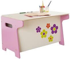 Toy Box Ideas Millhouse Children U0027s Flower Toy Box And Desk Amazon Co Uk