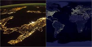World Map At Night nasa releases new clearest ever global maps of earth at night