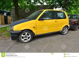 old fiat car parked stock photo image of europe small 54950996