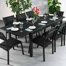 table de cuisine 8 places garden table set florence black 8 person aluminium glass