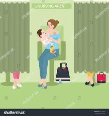 breast feeding lactation room facility public stock vector