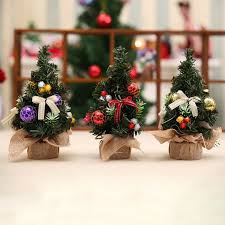small real tree with decorations for trees