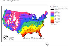 Comfortable Dew Points United States Yearly Annual And Monthly Mean Maximum Dew Point