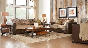 Coffee Table Rooms To Go Eric Church Highway To Home Hickory Canyon Brown 5 Pc Living Room