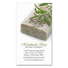 and organic herbal handmade soap business card templates