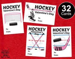 hockey valentines cards hockey cards etsy