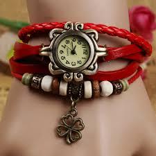 leather bracelet girl images Leaf watch leaf leather watch red bracelet watch leather watch jpg