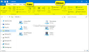 name ribbon hide or show file explorer ribbon in windows 10 windows 10 tutorials