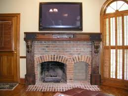 Fireplace Mantels For Tv by Interior Awesome Rustic Fireplace Mantels Ideas With Brick