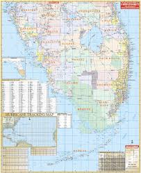 Florida Map Of Cities And Counties Florida Wall Maps National Geographic Maps Map Quest Rand