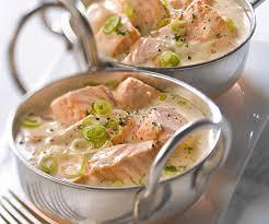 cuisiner le saumon blanquette de saumon recette traditionnelle gourmand