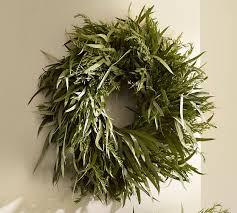 eucalyptus wreath live rosemary eucalyptus wreath pottery barn