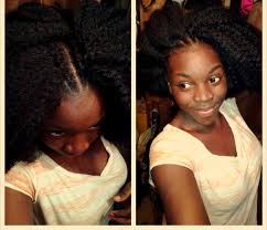 difference between afro twist and marley hair my first crochet braids with kinky hair coily head of hair