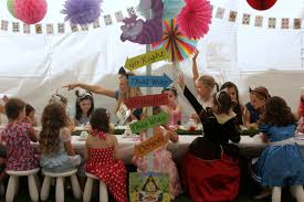 alice in wonderland tea party magic encore kids parties
