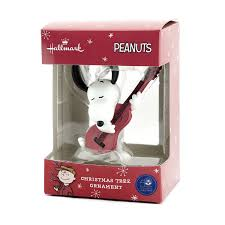 amazon com hallmark peanuts snoopy with guitar christmas ornament