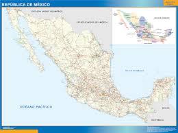 Mexico Wall Map Mexico Wall Map Han Dynasty Map