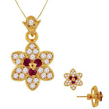 yellow diamond pendant necklace images Diamond pendant set 1 00ct ruby 18k yellow gold s earrings jpg&a