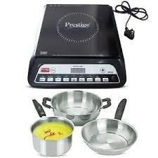 Smallest Induction Cooktop Prestige Pic 20 0 Induction Cooktop Black 3 Pc Cookware Set