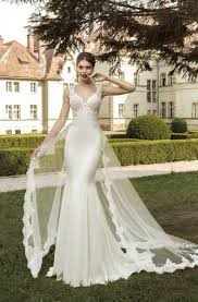 wedding dress mermaid detachable sweetheart satin trumpet mermaid wedding dress