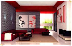 gray and red living room interior design home decor