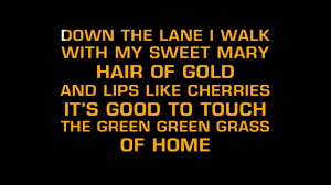 tom jones green green grass of home karaoke youtube