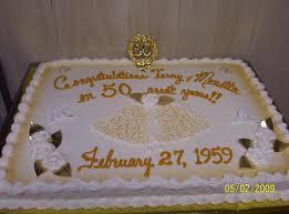 50th anniversary cake ideas 11 golden anniversary sheet cakes photo 50th wedding anniversary