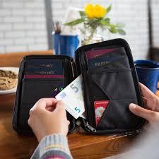 Pennsylvania travel document holder images Rfid blocking multiple passport holder wallet zero grid jpg