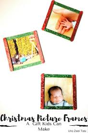 christmas picture frames a beautiful gift kids can easily make