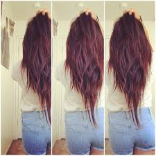 long shag hairstyle pictures with v back cut v cut texture long hair for when my hair grows back out except