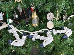 buy rustic blue decorative anchor set tree ornament