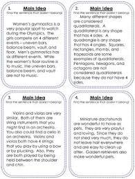 main idea worksheets 2nd grade worksheets