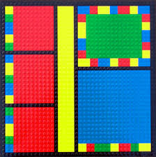 paper wizard block party collection lego 12x12 embossed