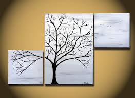 creative cool simple paintings used three canvas different size