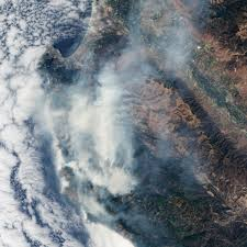 Wildfire From Space by Landsat Image Gallery Wildfire Along The California Coast