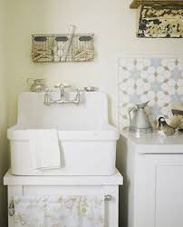 Chic Utility Sink Backsplash With Additional Home Decor Interior - Utility sink backsplash