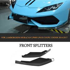 lamborghini huracan front carbon fiber front bumper splitter apron case for lamborghini