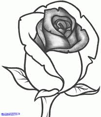 cartoon drawing rose how to draw a rose cute easy kawaii drawings