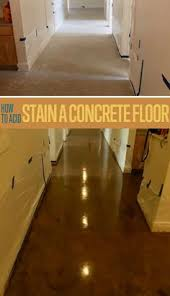 Basement Floor Stain by Concrete Floors In The Basement Great Idea Basement Small