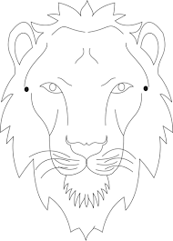 lion mask coloring page printable coloring pages