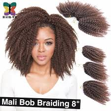 bob marley hair extensions 3pcs lot ombre wand curls mali bob twist crochet braids short hair