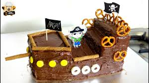 pirate ship cake how to make a pirate ship cake diy kids birthday party ideas