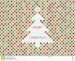 christmas tree card template with star pattern holiday vector