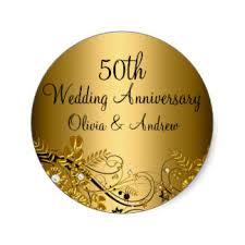 fiftieth anniversary 50th anniversary stickers zazzle