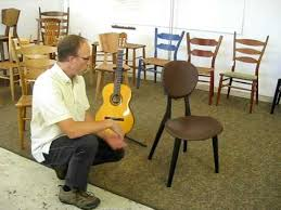 the birth of the guitar chair by brian boggs