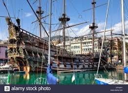 pirate ship roman polanski porto antico genoa liguria italy