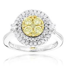 unique engagement rings for women engagement rings 14k gold white yellow diamond ring for women 1 2ct