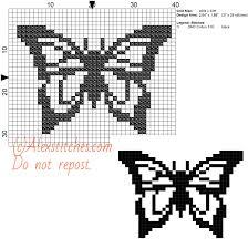 black butterfly free cross stitch pattern 40x30 1 color