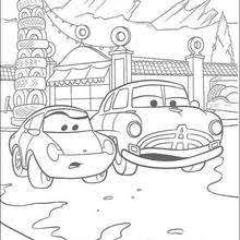 mater tractor tipping coloring pages hellokids