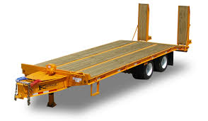 45000 gvwr heavy equipment flatbed trailer by kaufman trailers